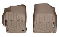Коврики в салон Toyota Camry VII (XV50) (дорестайл) 2011 - 2014, серые, Tri-Extruded (WeatherTech, 454001) - передний ряд
