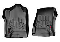 Коврики в салон Cadillac Escalade IV (GMT K2XL) 2015 -, черные, Tri-Extruded (WeatherTech, 446071) - передний ряд