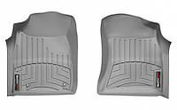 Коврики в салон Toyota Hilux VII 2006 - 2012, серые, Tri-Extruded (WeatherTech, 461001) - передний ряд