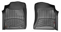 Коврики в салон Toyota Hilux VII (дорестайл) 2006 - 2012, черные, Tri-Extruded (WeatherTech, 441001) - передний ряд