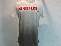 Мужская футболка  Umbro бело-черная код 070в