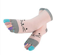 Носки с пальцами Счастливая Кошка JOKEJOLLY 36-39 Разноцветный