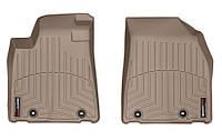 Коврики в салон Lexus RX III (AL10) (рестайлинг) 2013 - 2015, бежевые, Tri-Extruded (WeatherTech, 454561) - передний ряд