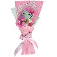 Букет из мягких игрушек Котик в розовом конверте