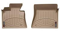 Коврики в салон Bmw X5 (E70) 2006 - 2013 / X6 (E71, E72) 2007 - 2014, бежевые, Tri-Extruded (WeatherTech, 450951) - передний ряд