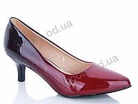 """Туфли демисезонные женские """"MaiNeLin"""" #111-7. р-р 36-40. Цвет бордовый. Оптом"""