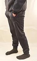 Штаны спортивные зимние под манжет из турецкого трикотажа с карманами на молнии S - XXL