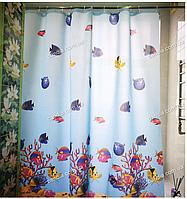 Шторка для ванной с водоотталкивающей пропиткой RED SEA BLUE 180х200 см 11061, фото 1