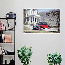 "Постер ""Ретроавто Mercedes-Benz 1936-42 170 V Cabriolet A"". Размер 60x40см (A2). Глянцевая бумага, фото 3"
