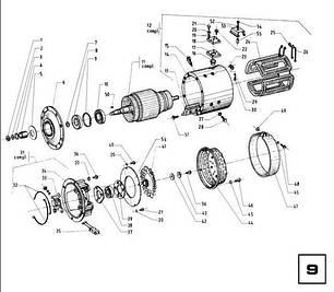 09 тяговий Електродвигун