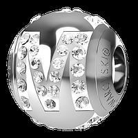 "Шарм Swarovski для браслета Pandora 182201 Буква ""М"""