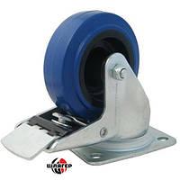 PENN ELCOM W0985-01 Blue Swivel Castor Колесо для кейсов рэков поворотное с фиксатором, размеры 100 * 36мм