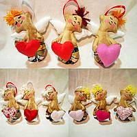 Ароматизированная мягкая игрушка ручной работы Ангел с сердечком. С ароматом кофе, корицы и ванили.