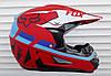Кросовий мото шолом Fox червоний матовий + текстильна маска
