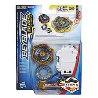 Бейблейд Джинниус J3 Турбо c пусковым устройством Beyblade Burst Turbo SwitchStrike Jinnius J3 Оригинал Hasbro