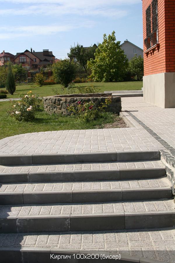 Обработанная тротуарная плитка Коллекция Меланж