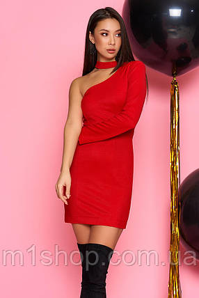 Короткое платье с одним рукавом (Гера mm), фото 2
