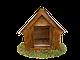 Будка для собаки Фортеця №2 средняя 750*550*630 сосна 9970629, фото 2