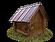 Будка для собаки Фортеця №2 средняя 750*550*630 сосна 9970629, фото 5