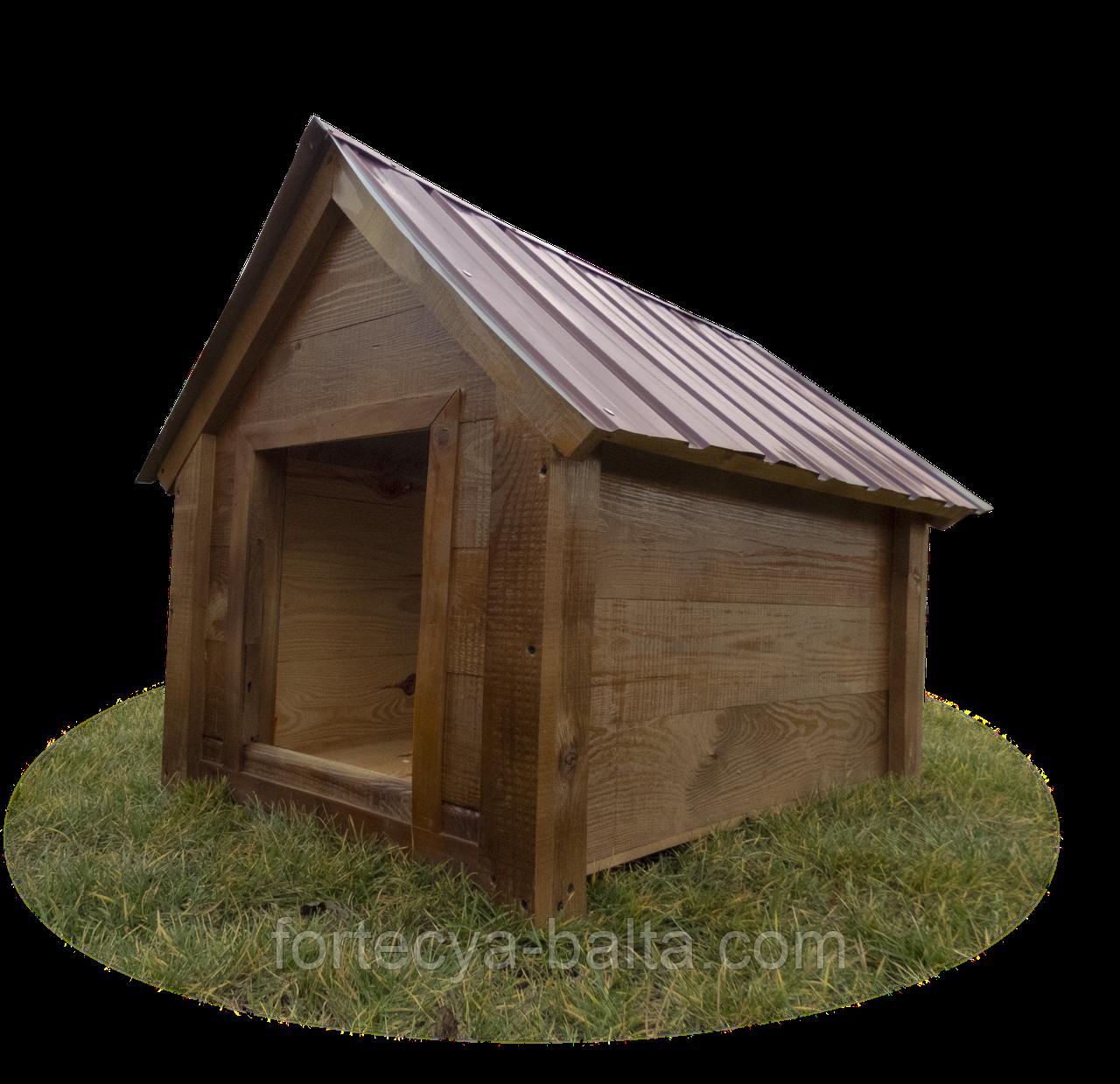 Будка для собаки Фортеця №3 средняя с утеплением 930*640*830 сосна 8640473