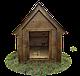 Будка для собаки Фортеця №3 средняя с утеплением 930*640*830 сосна 8640473, фото 2