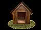 Будка для собаки Фортеця №3 средняя 930*640*830 сосна 9970628, фото 5