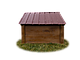 Будка для собаки Фортеця №3 средняя 930*640*830 сосна 9970628, фото 4