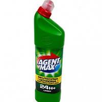 Средство для мытья и дезинфекции унитазов и сантехники AGENT MAX 24 h+ 1,1 l