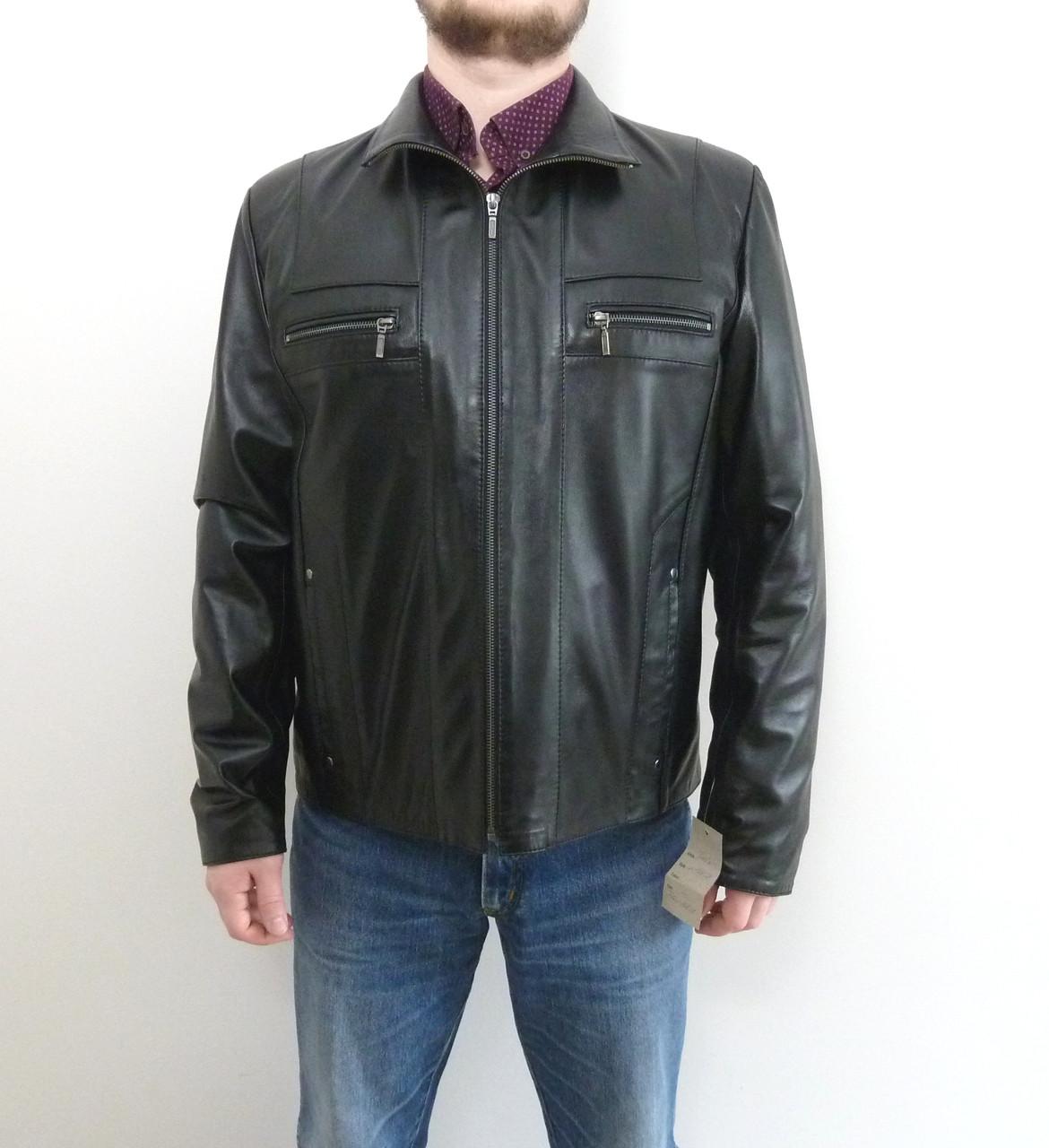 Мужская куртка Eleganza из натуральной кожи. Модель TURIN размер S