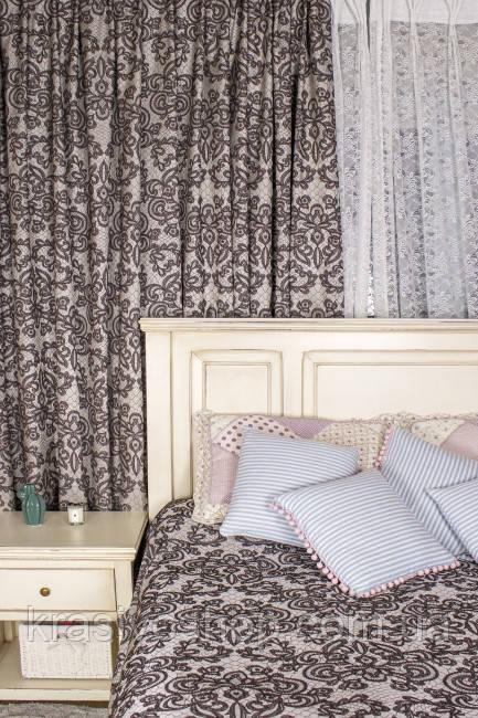 Ткань для пошива штор Кружево 09 двустронняя