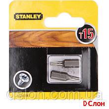 Набор бит STANLEY STA61061, односторонняя, Torx, Т15, L = 25 мм, 2 шт, блистер
