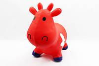 Игрушка прыгун резиновый для детей M01360 корова Бетси (Красная)