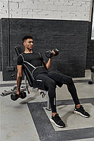 Спортивная мужская футболка с полосками, фото 1