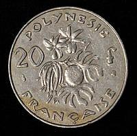 Монета Французской Полинезии 20 франков 1998 г.