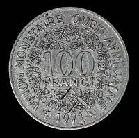 Монета Западной Африки 100 франков 1971 г.