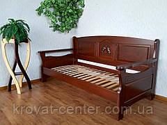 """Білий дитячий диван ліжко з натурального дерева """"Орфей Преміум"""" від виробника, фото 3"""