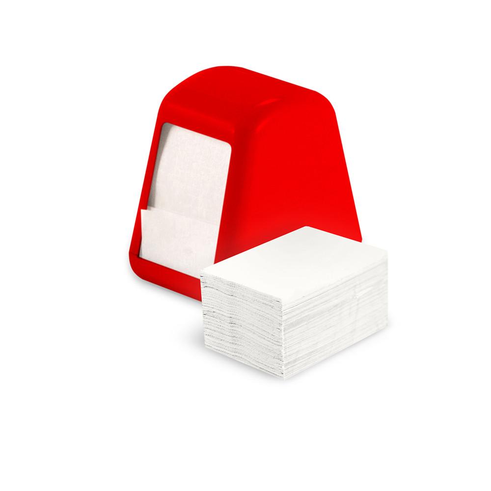 Держатель для барных салфеток красный Пластиковая салфетница