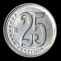 Монета Венесуэлы 25 сентимо 2007 г.