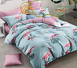 """Комплект постельного белья из ранфорса ТМ """"Ловец снов"""", Фламинго яркое, фото 2"""
