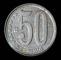 Монета Венесуэлы 50 сентимо 2007 г.