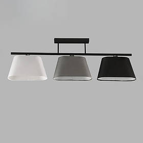 Люстра потолочная на три лампы NM-814287/3D BK MIX
