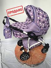 """Польская Детская прогулочная коляска 2 в 1 """"Angel"""" фиолетовый"""