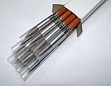 Кисти НЕЙЛОН - №07, RA9127#7, круглые, длинная ручка., фото 5