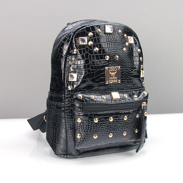 Рюкзак кожзам женский черный малый Jhq 085