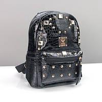 Рюкзак кожзам женский черный малый Jhq 085, фото 1