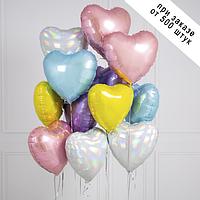 Фольгированныешары 18' Китай Сердце ассорти, 45 см
