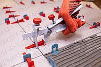 Система выравнивания (укладки) плитки СВП NOVA  200 клиньев + 500 зажимов 1 мм. + 1 металлический инструмент