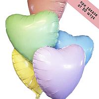 Фольгированныешары 18' Китай Сердце ассорти (пастель+сатин) macaron, 45 см