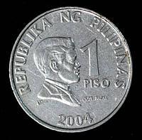 Монета Филиппин 1 песо 2004 г.