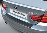 Пластиковая защитная накладка на задний бампер для BMW 4-series F32 2dr Coupe 2013+, фото 2